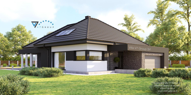 Immagine Villa V55 (progetto originale) - vista giardino grande