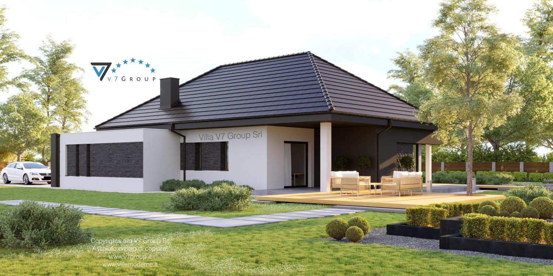 Immagine Villa V55 (progetto originale) - vista terrazzo esterno grande