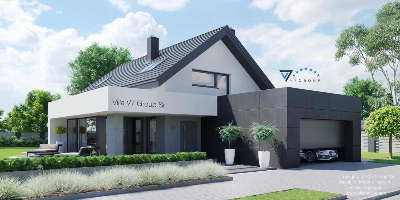 Immagine Villa V56 (progetto originale) - vista frontale grande