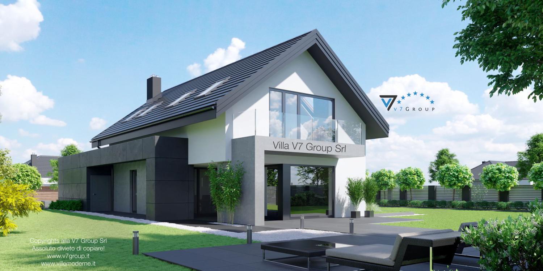 Immagine Villa V56 (progetto originale) - vista terrazzo esterno grande