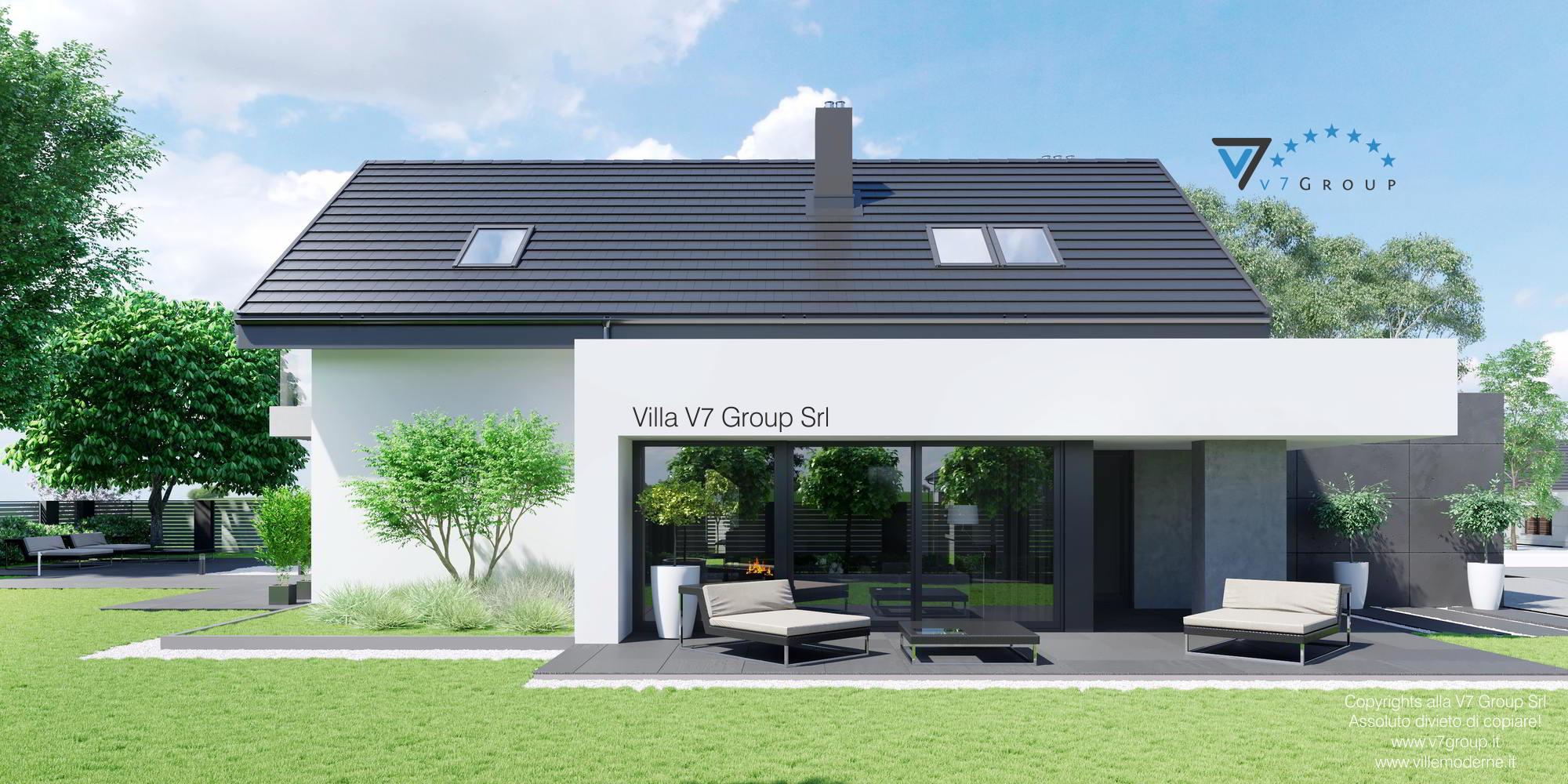 Immagine Villa V56 (progetto originale) - vista terrazzo esterno laterale grande