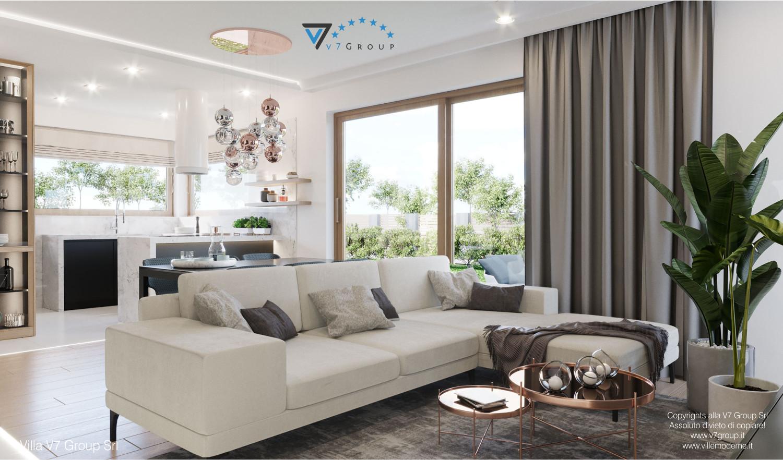 Immagine Villa V57 (progetto originale) - interno 1 - soggiorno