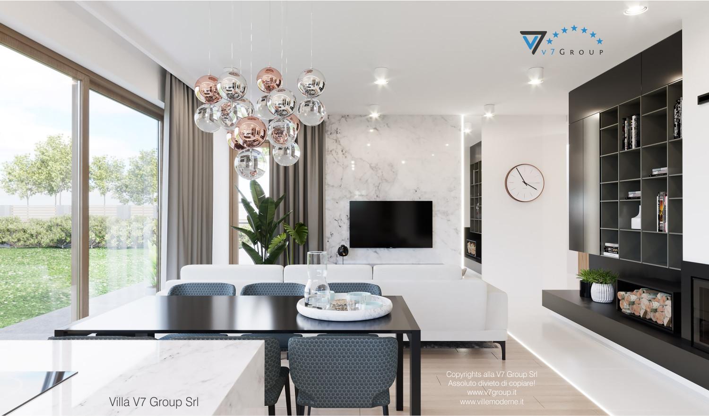 Immagine Villa V57 (progetto originale) - interno 2 - sala da pranzo e soggiorno