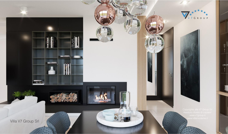 Immagine Villa V57 (progetto originale) - interno 3 - sala da pranzo e corridoio