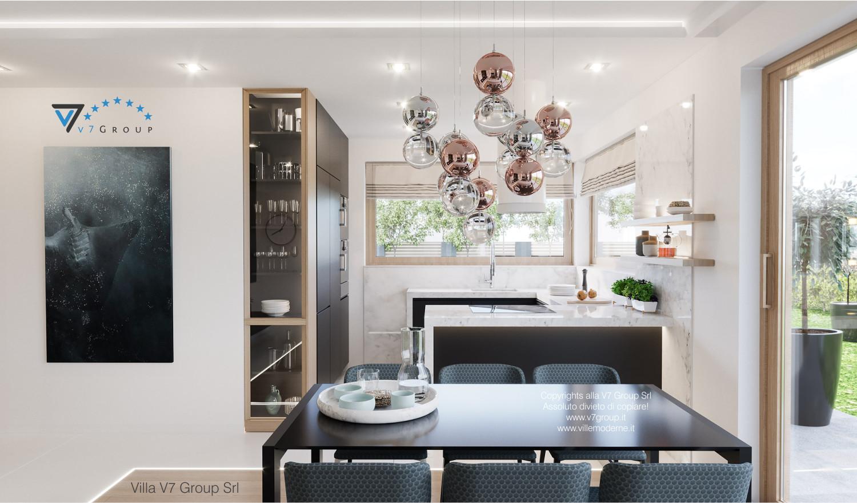 Immagine Villa V57 (progetto originale) - interno 4 - sala da pranzo e cucina