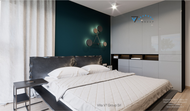 Immagine Villa V57 (progetto originale) - interno 7 - camera matrimoniale