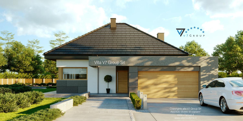 Immagine Villa V57 (progetto originale) - vista frontale grande