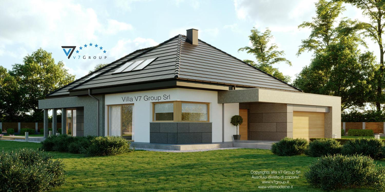 Immagine Villa V57 (progetto originale) - vista frontale laterale grande
