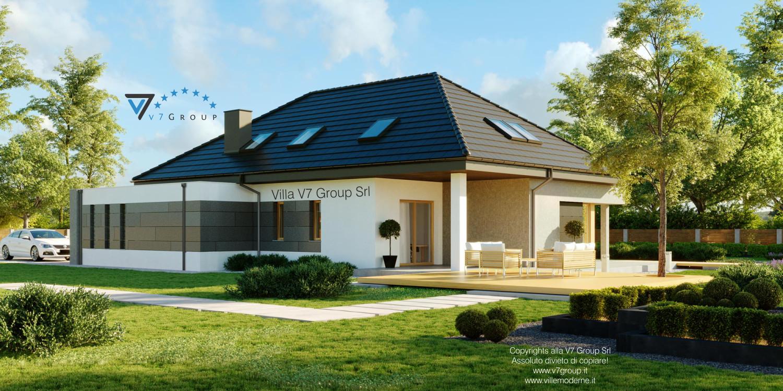 Immagine Villa V57 (progetto originale) - vista giardino grande