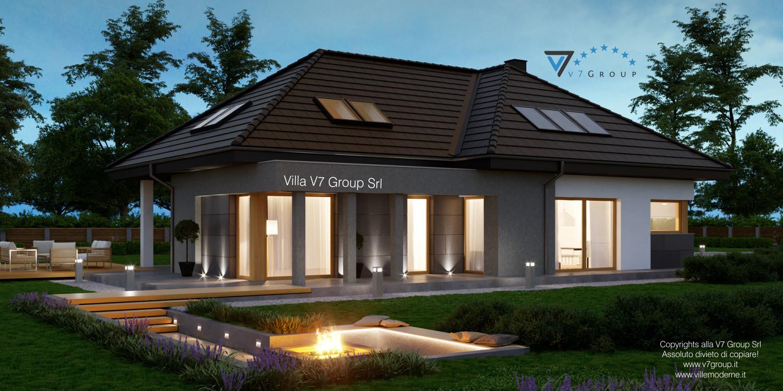 Immagine Villa V57 (progetto originale) - vista terrazzo esterno grande
