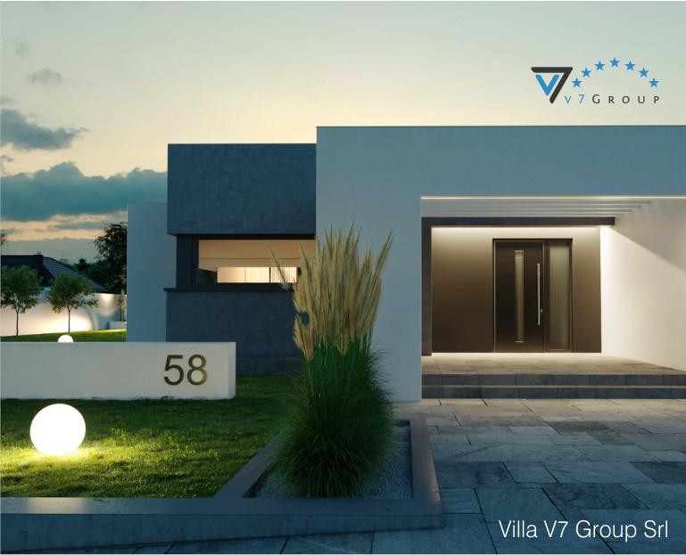 Immagine Villa V58 (progetto originale) - l'entrata principale ingrandita di sera