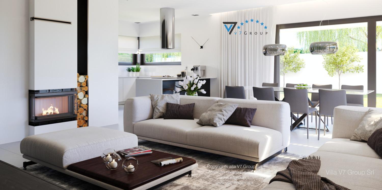 Immagine Villa V58 (progetto originale) - il design del soggiorno