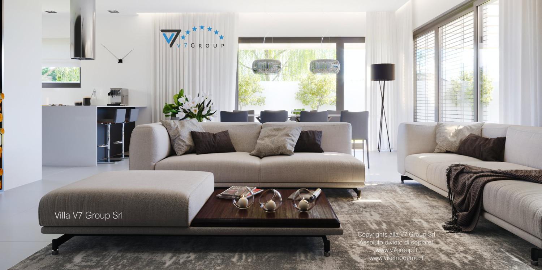 Immagine Villa V58 (progetto originale) - i divani di color crema