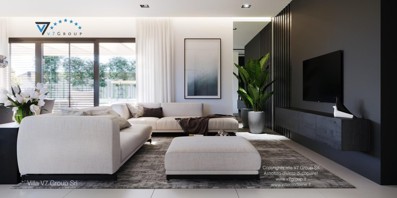 Immagine Villa V58 (progetto originale) - la sistemazione del soggiorno
