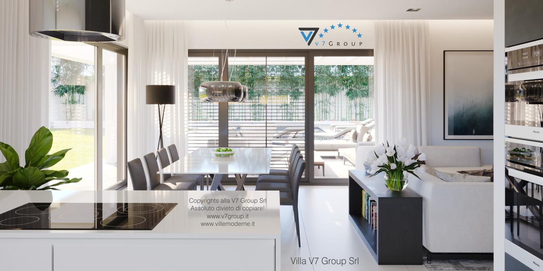 Immagine Villa V58 (progetto originale) - il tavolo bianco e le sedie