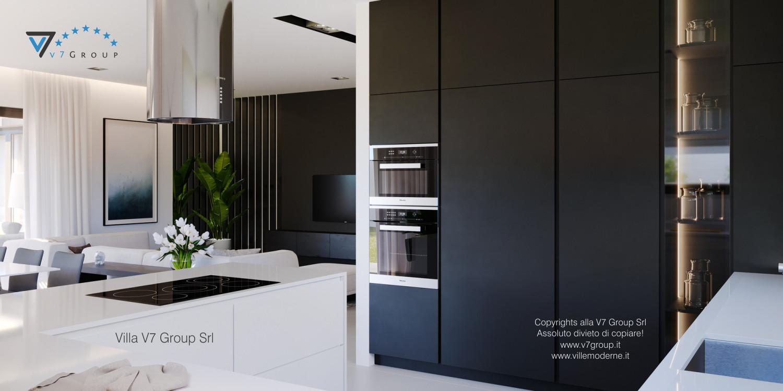 Immagine Villa V58 (progetto originale) - interno 5 - cucina e soggiorno