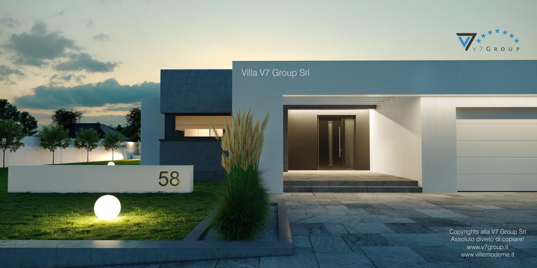 Immagine Villa V58 (progetto originale) - l'entrata di sera