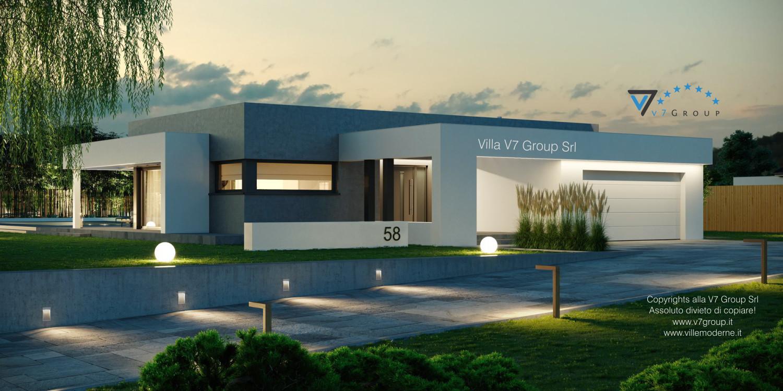 Immagine Villa V58 (progetto originale) - la parte frontale di lato