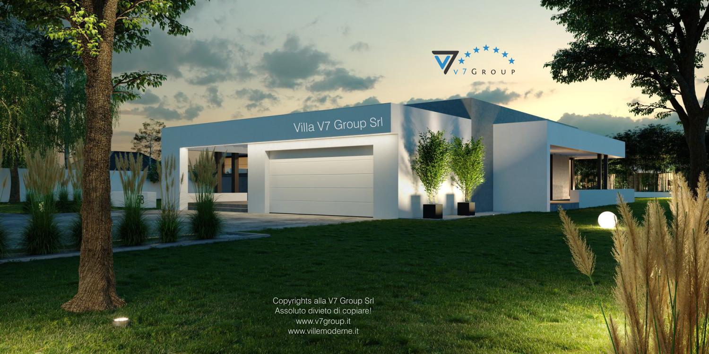 Immagine Villa V58 (progetto originale) - la porta garage bianca