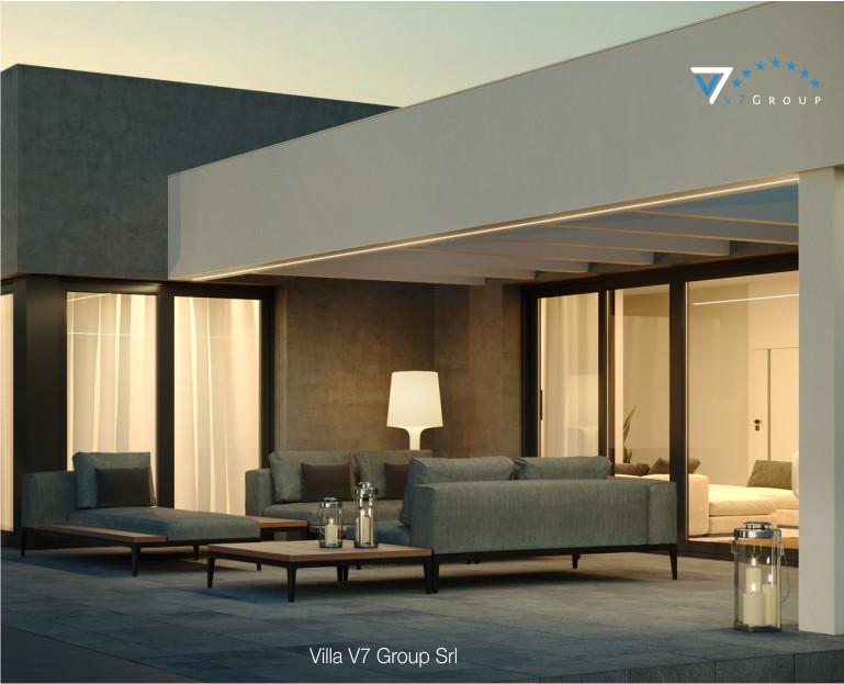Immagine Villa V58 (progetto originale) - il terrazzo esterno ingrandito