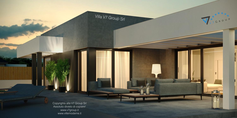 Immagine Villa V58 (progetto originale) - il terrazzo esterno