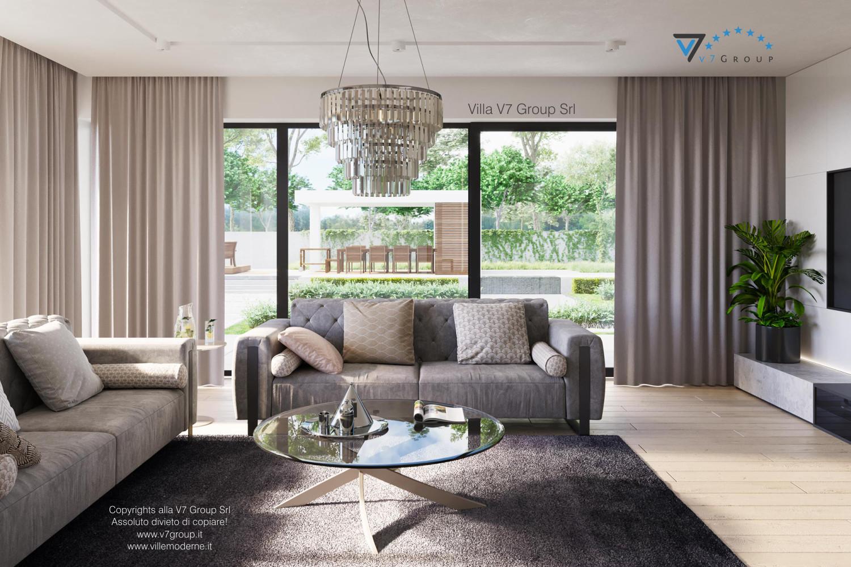 Immagine Villa V59 (progetto originale) - il divano e il tavolo in vetro