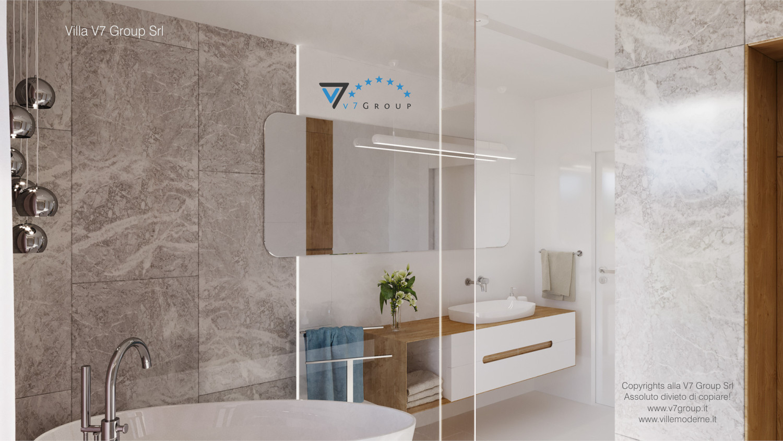 Immagine Villa V59 (progetto originale) - lo specchio e il lavandino