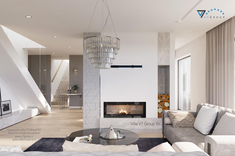Immagine Villa V59 (progetto originale) - interno 3 - soggiorno e corridoio