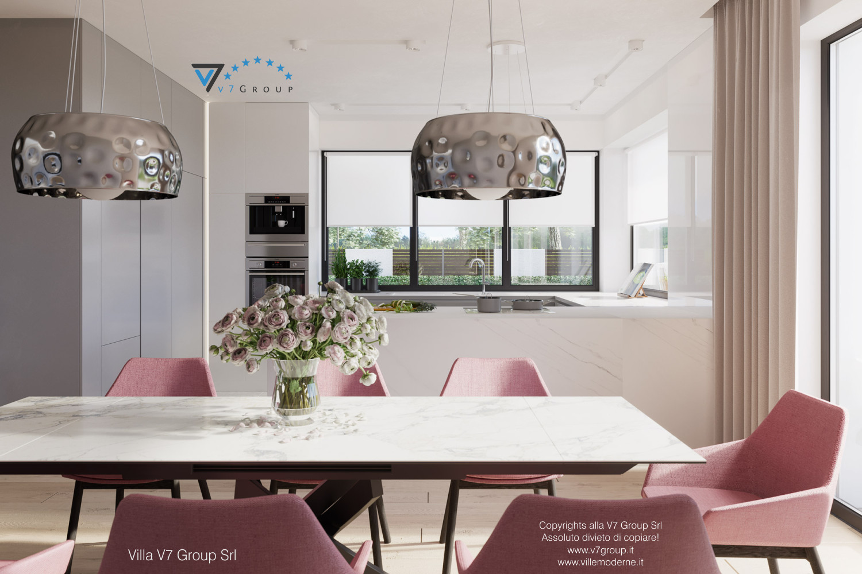 Immagine Villa V59 (progetto originale) - le sedie rosa e il tavolo