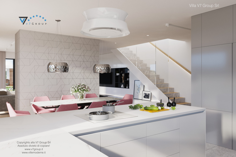 Immagine Villa V59 (progetto originale) - interno 6 - sala da pranzo e scale