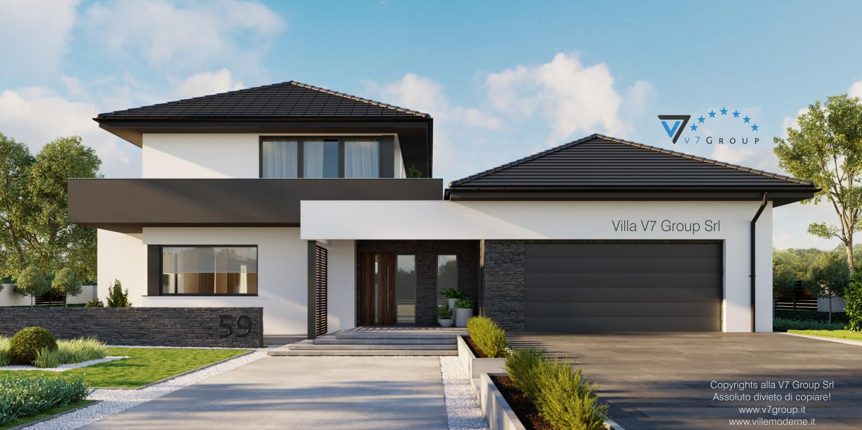 Immagine Villa V59 (progetto originale) - l'entrata e il garage grande