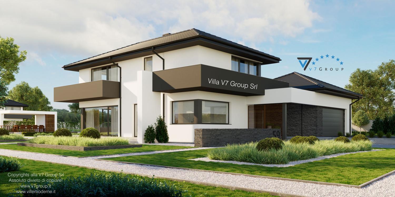 Immagine Villa V59 (progetto originale) - vista frontale laterale grande