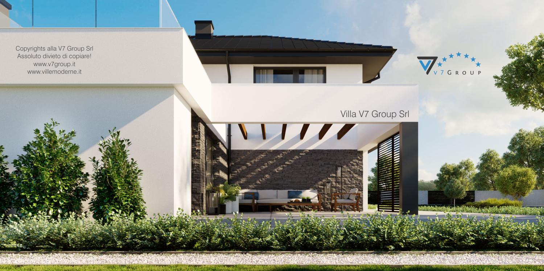 Immagine Villa V59 (progetto originale) - vista terrazzo esterno grande