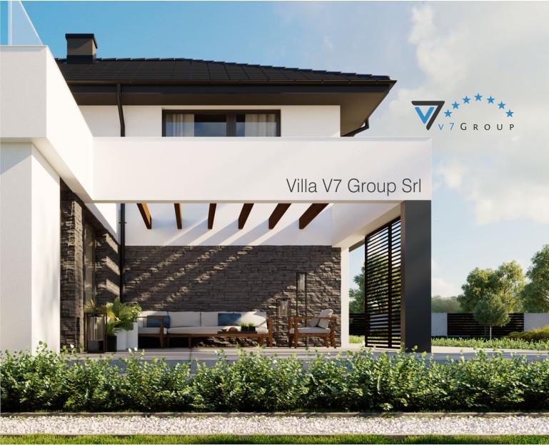 Immagine Villa V59 (progetto originale) - il terrazzo e la casa ingrandita