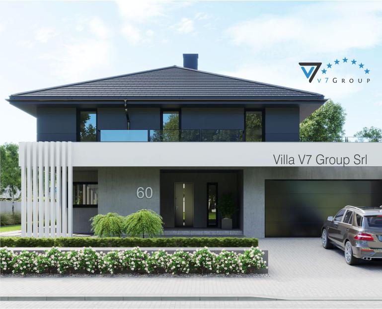 Immagine Villa V60 (progetto originale) - parte frontale ingrandita