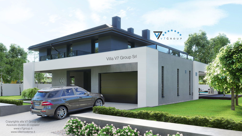 Immagine Villa V60 (progetto originale) - vista frontale garage grande