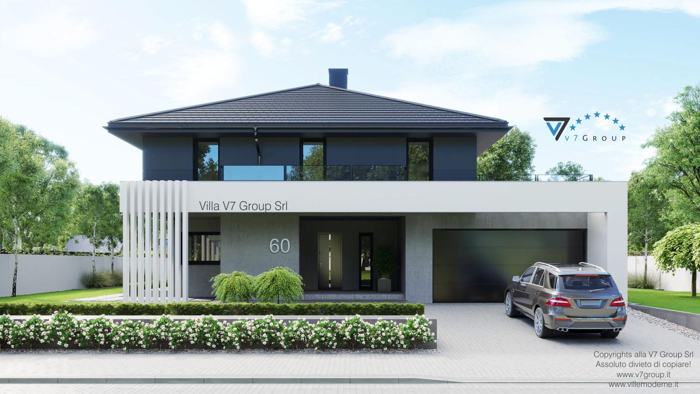Immagine Villa V60 (progetto originale) - l'entrata e il garage grande