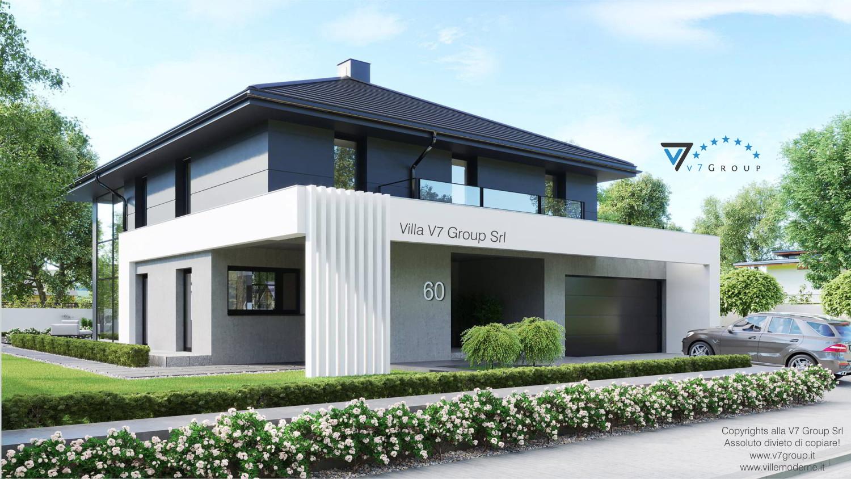 Immagine Villa V60 (progetto originale) - vista frontale laterale grande