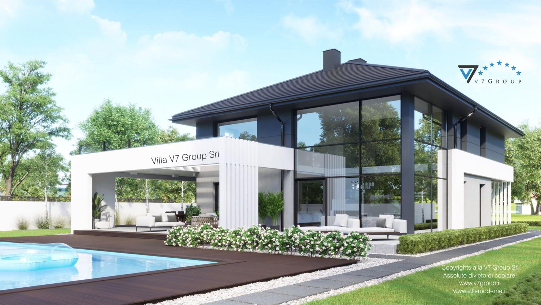 Immagine Villa V60 (progetto originale) - vista giardino e piscina grande