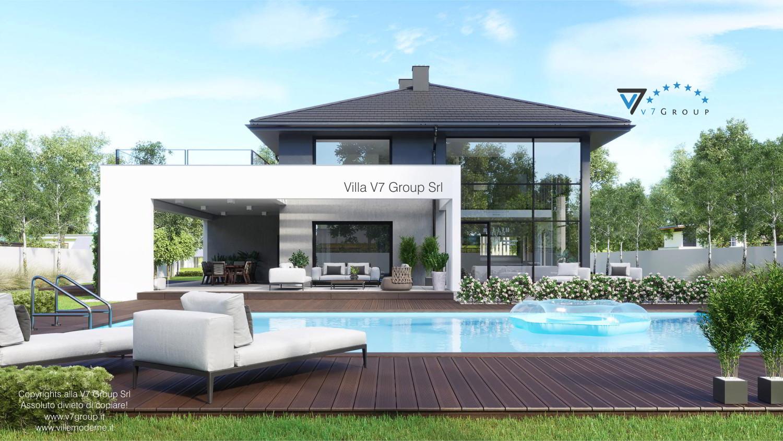 Immagine Villa V60 (progetto originale) - vista piscina grande