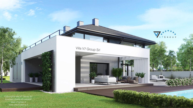 Immagine Villa V60 (progetto originale) - vista terrazzo esterno e piscina grande