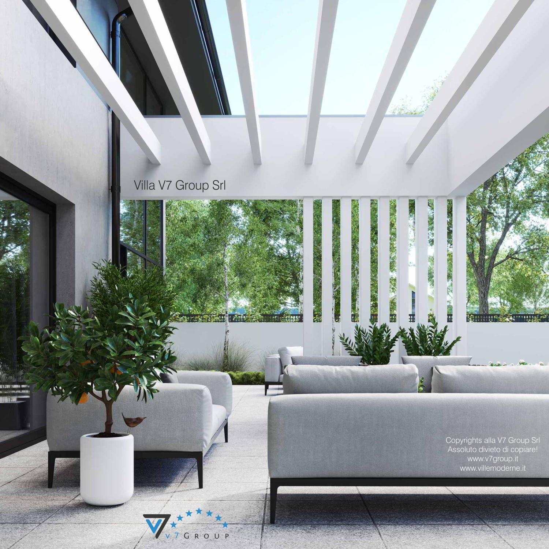 Immagine Villa V60 (progetto originale) - vista terrazzo esterno in dettaglio grande