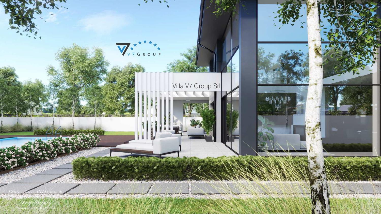 Immagine Villa V60 (progetto originale) - vista terrazzo esterno laterale grande