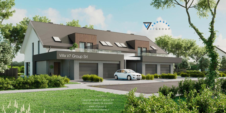 Immagine Villa V61 (B2) - l'entrata e il garage della casa