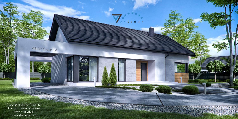 Immagine Villa V45 (progetto originale) - la parte frontale della villa