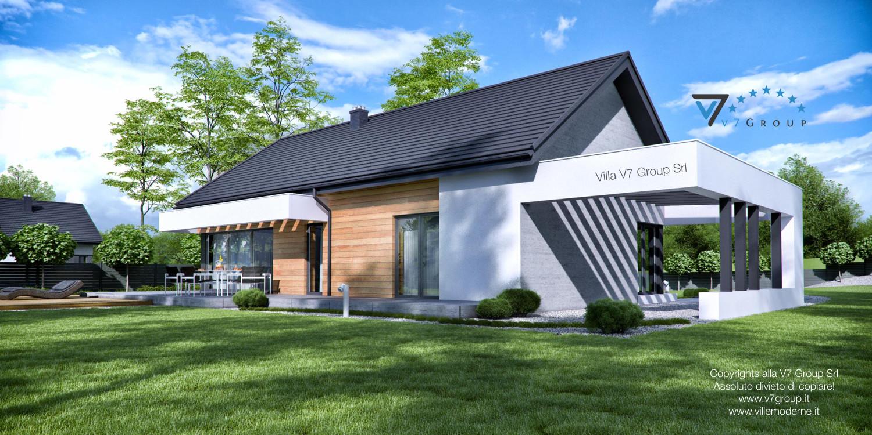 Immagine Villa V45 (progetto originale) - vista giardino grande