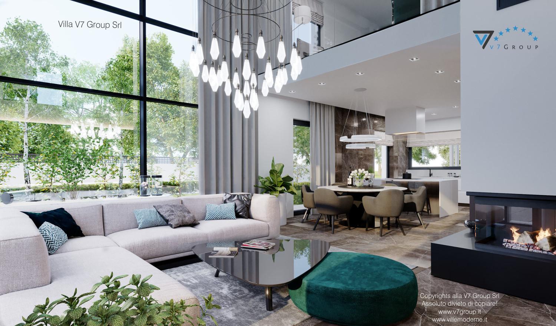 Immagine Villa V60 - il camino nel soggiorno grande