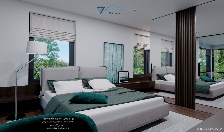 Immagine Villa V60 - il grande letto matrimoniale in camera