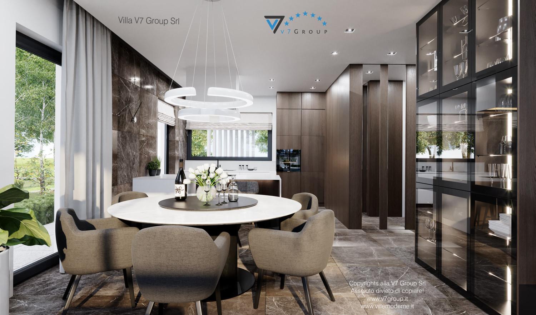 Immagine Villa V60 - il tavolo e le sedie nella sala da pranzo