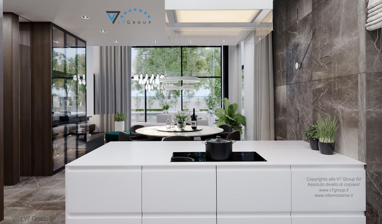Immagine Villa V60 (progetto originale) - interno 3 - sala da pranzo e cucina